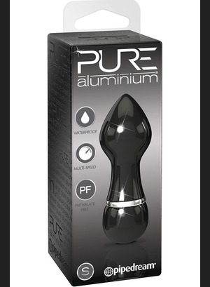 Мини вибратор Pure Aluminium Small Black