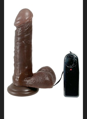 Реалистичный вибратор Black Boomser 6 Vibrating