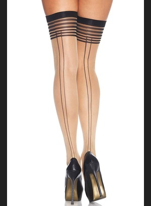 Чулки Thigh Highs With Striped Top