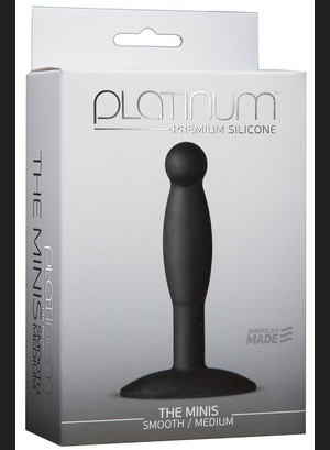 Анальная пробка Platinum The Minis Smooth Black M