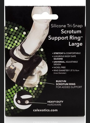Насадка Silicone Tri-Snap Scrotum Support Ring Large